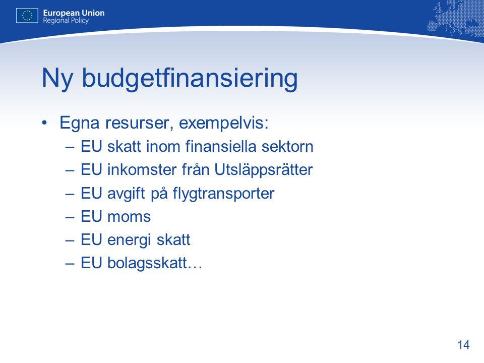 Ny budgetfinansiering