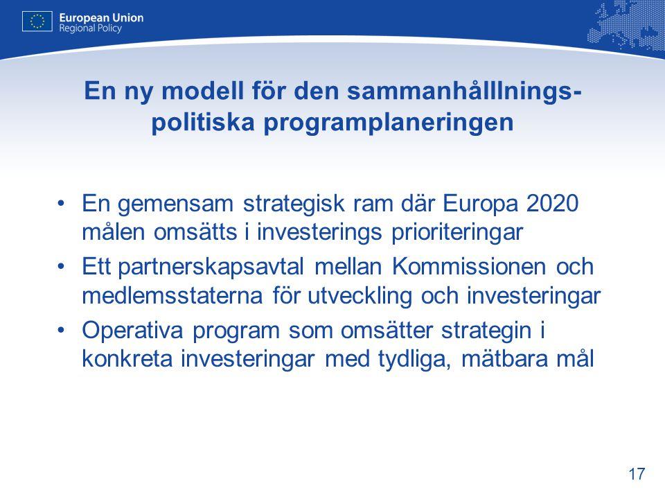 En ny modell för den sammanhålllnings- politiska programplaneringen