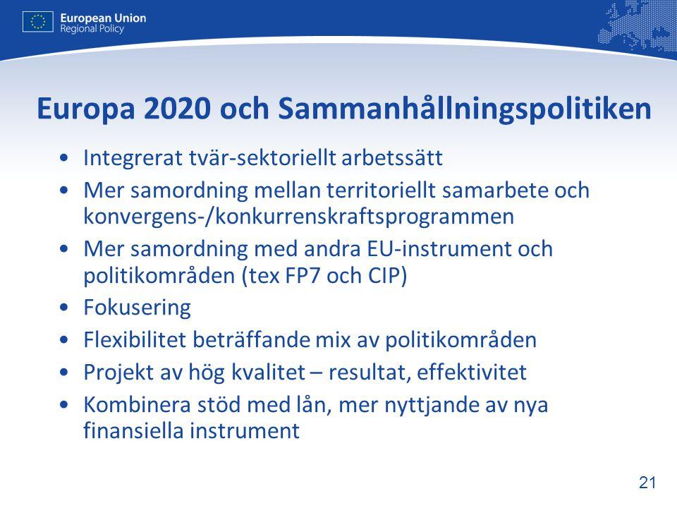 Europa 2020 och Sammanhållningspolitiken