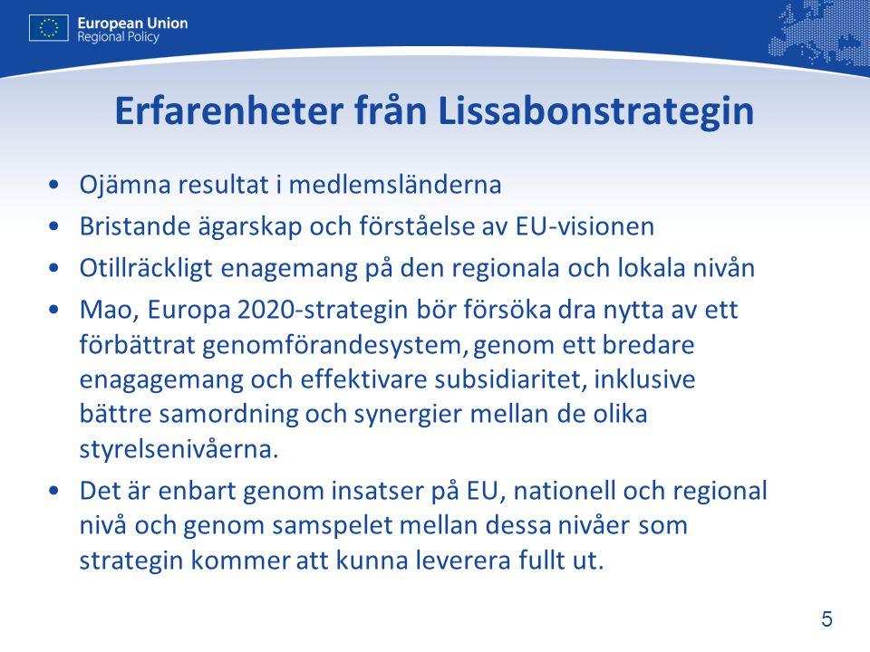 Erfarenheter från Lissabonstrategin