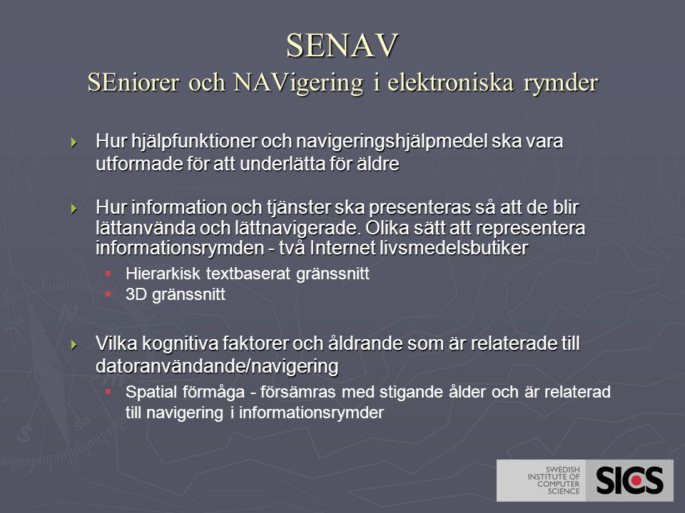 SENAV SEniorer och NAVigering i elektroniska rymder