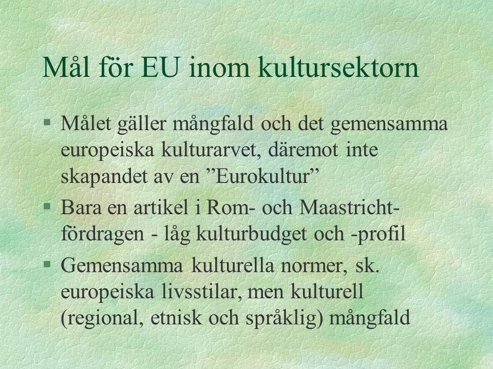 Mål för EU inom kultursektorn