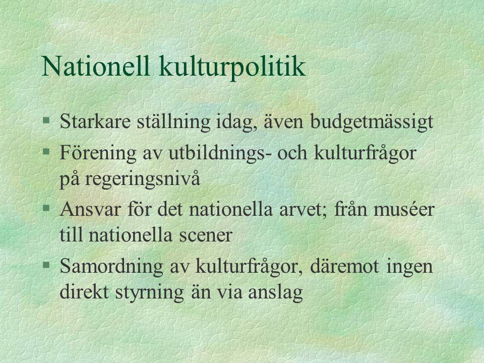 Nationell kulturpolitik