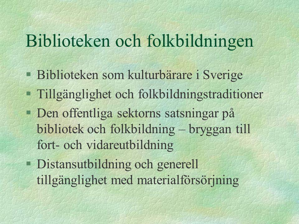 Biblioteken och folkbildningen