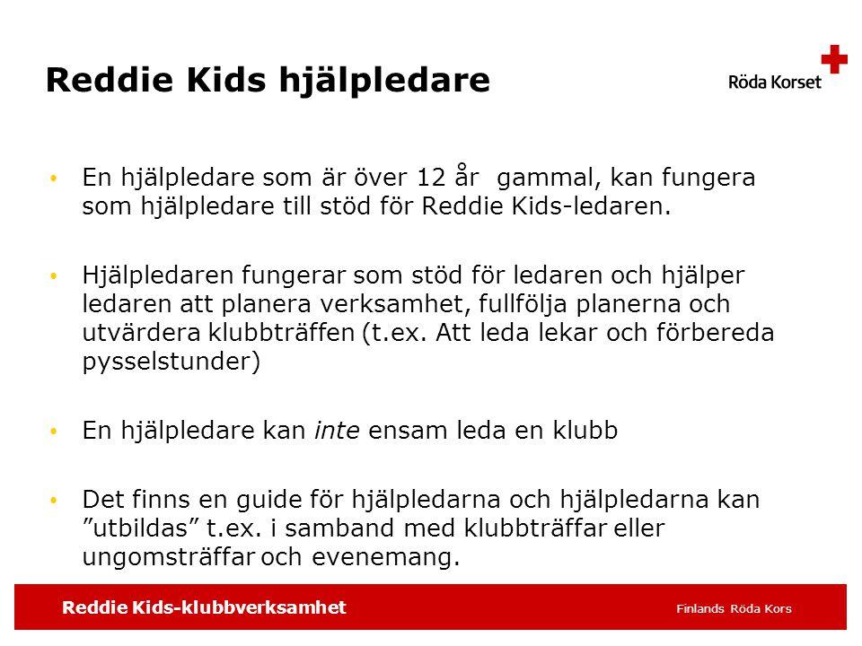Reddie Kids hjälpledare