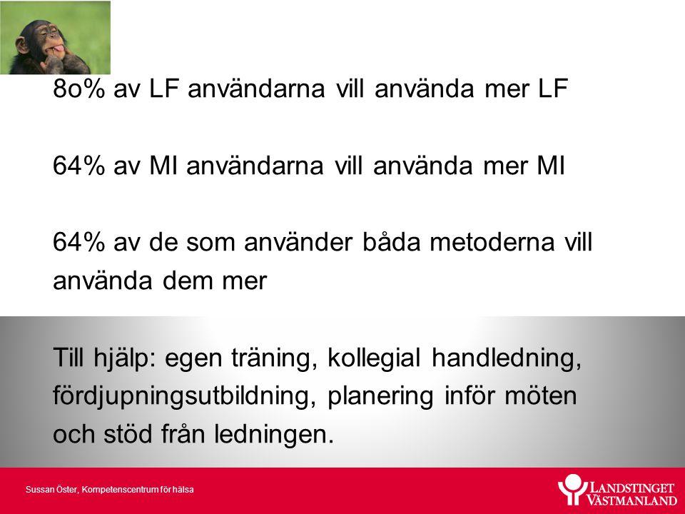 8o% av LF användarna vill använda mer LF
