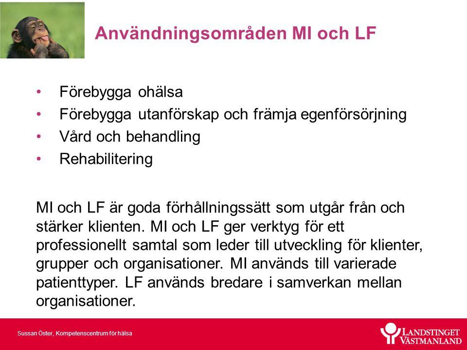 Användningsområden MI och LF