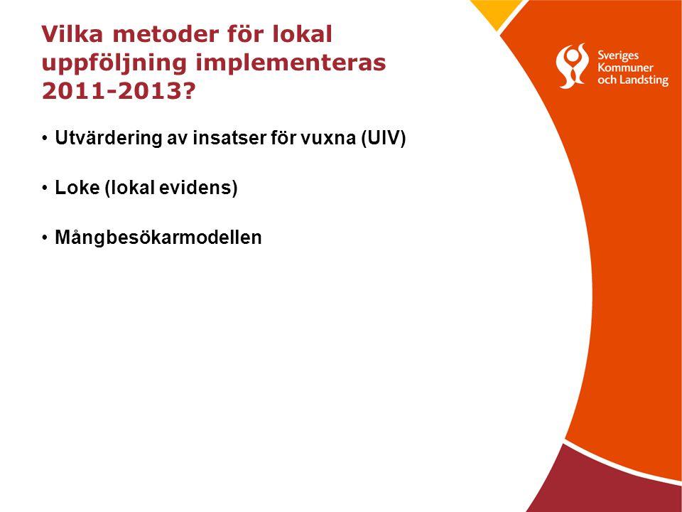 Vilka metoder för lokal uppföljning implementeras 2011-2013