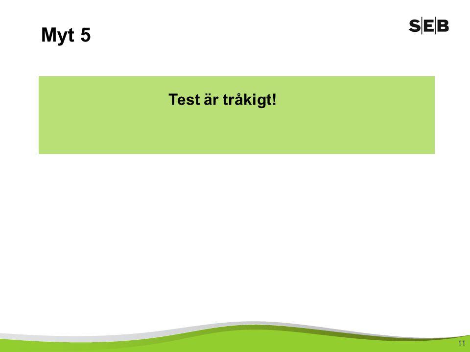 Myt 5 Test är tråkigt!
