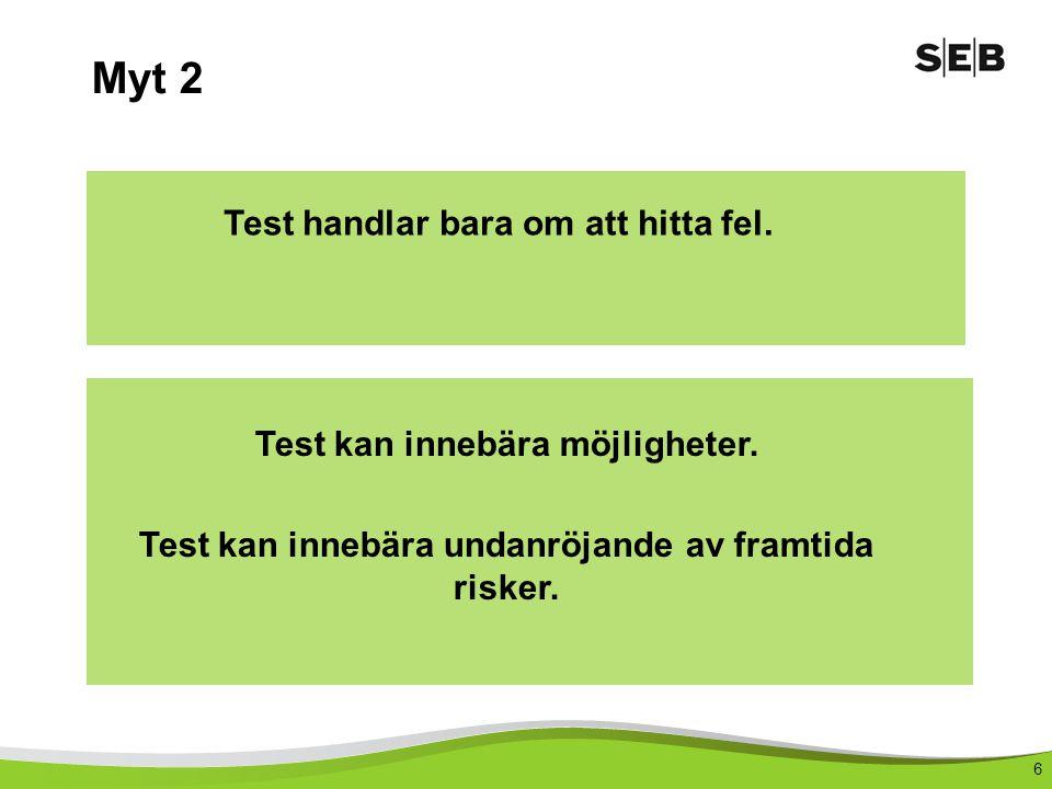 Myt 2 Test handlar bara om att hitta fel.