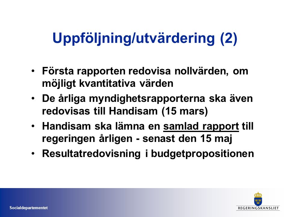 Uppföljning/utvärdering (2)