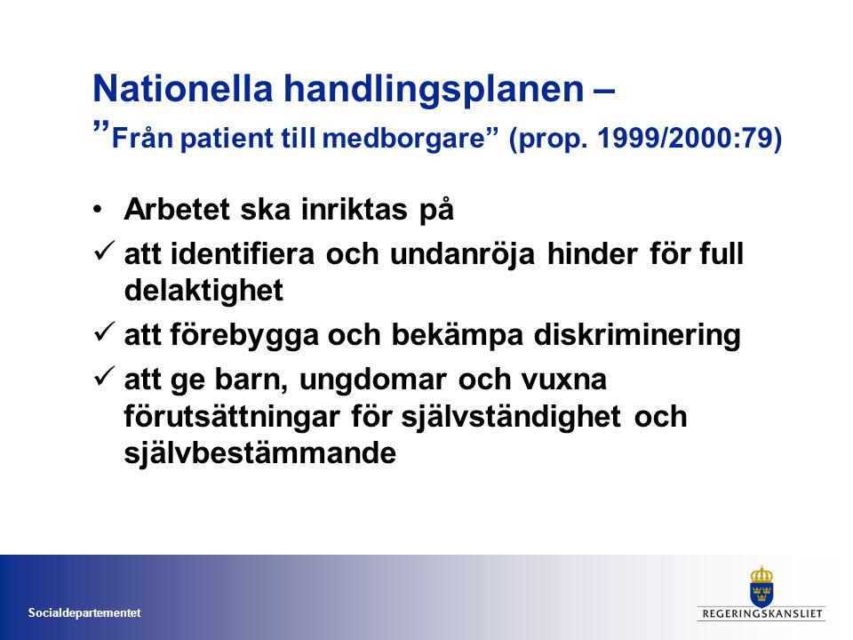 Nationella handlingsplanen – Från patient till medborgare (prop