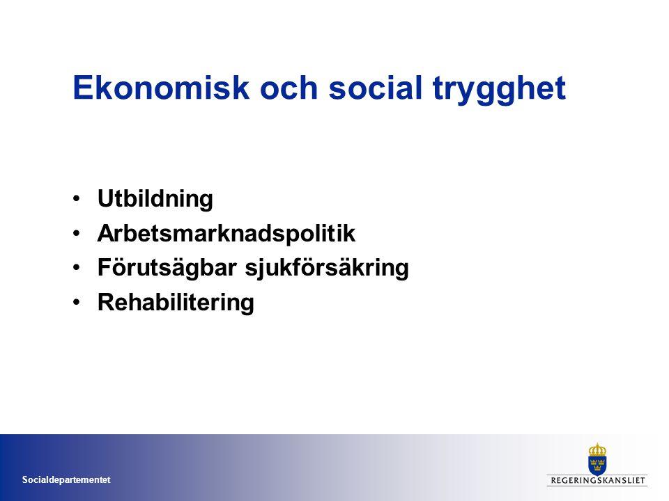 Ekonomisk och social trygghet