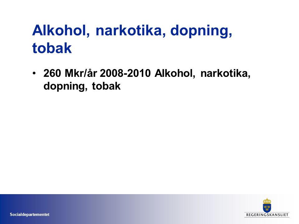 Alkohol, narkotika, dopning, tobak