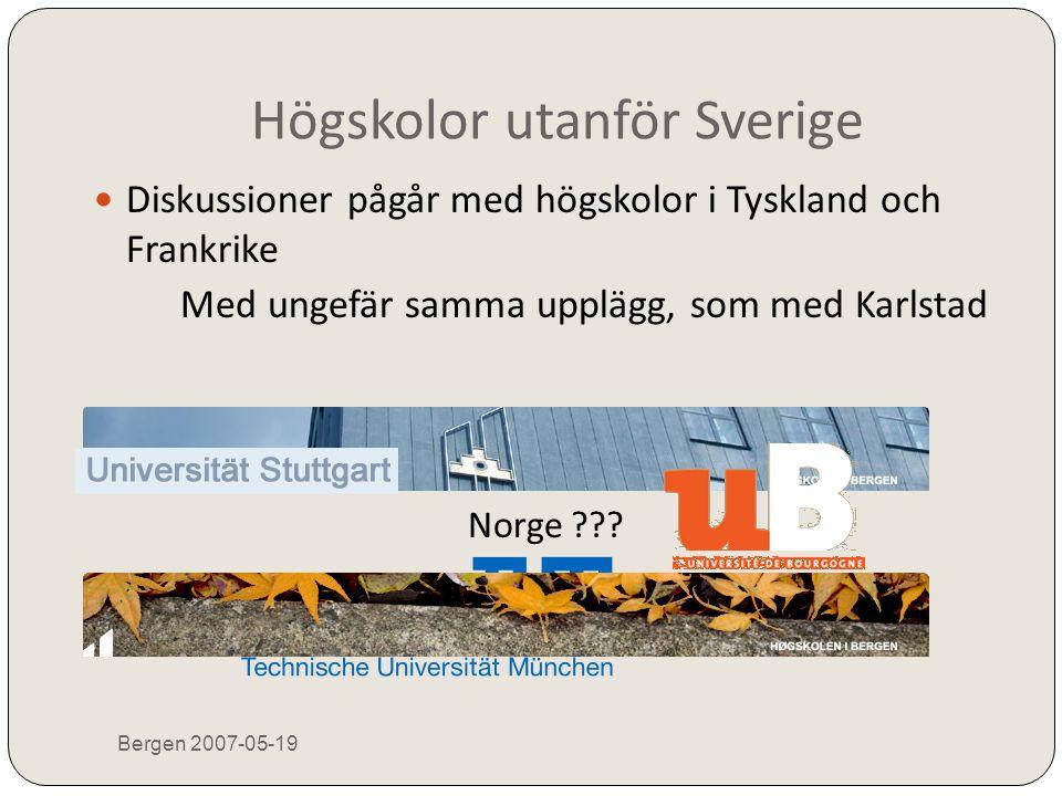 Högskolor utanför Sverige