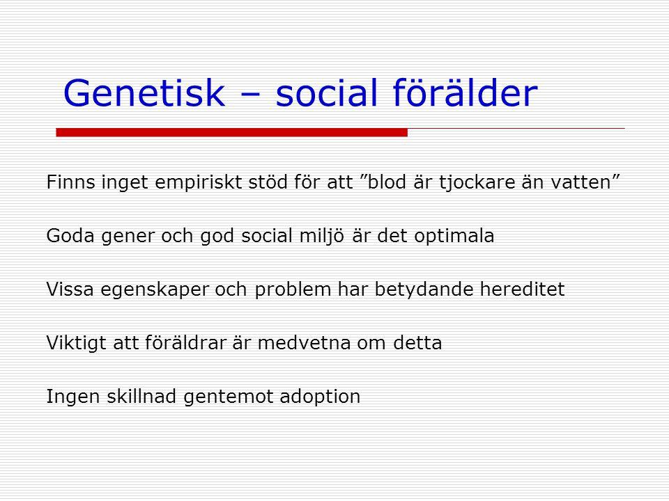 Genetisk – social förälder