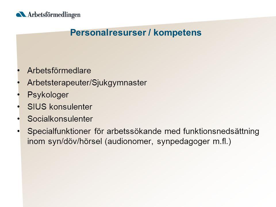 Personalresurser / kompetens