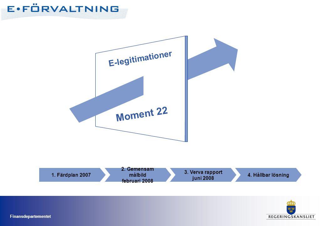 Moment 22 E-legitimationer 1. Färdplan 2007 2. Gemensam målbild