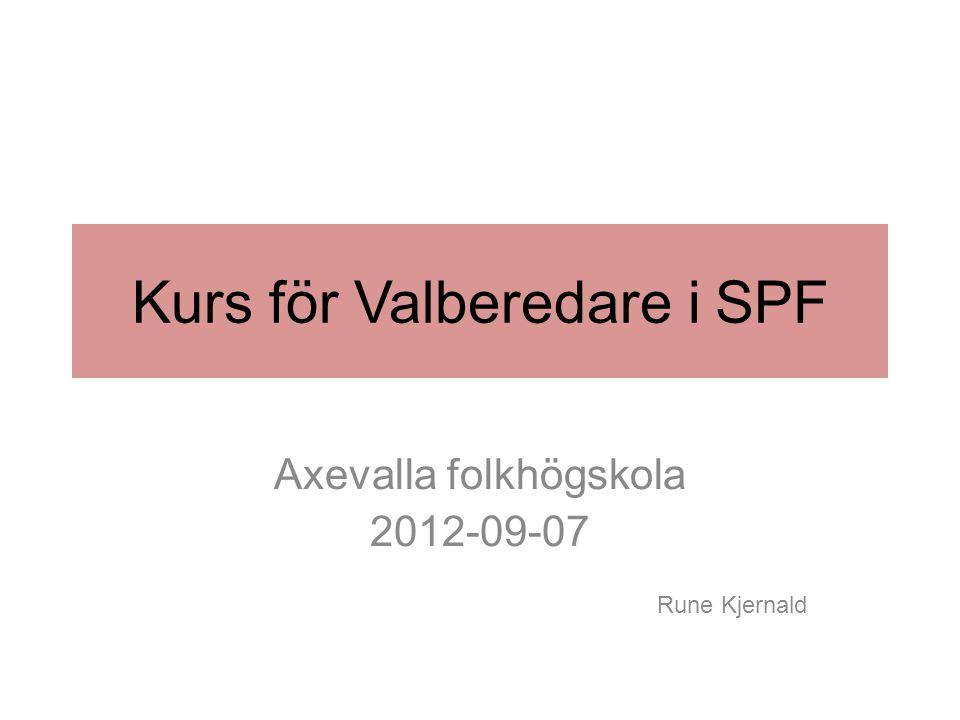 Kurs för Valberedare i SPF