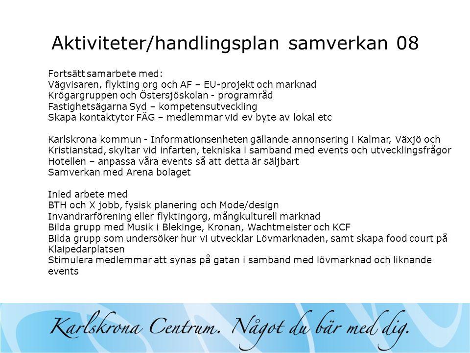 Aktiviteter/handlingsplan samverkan 08