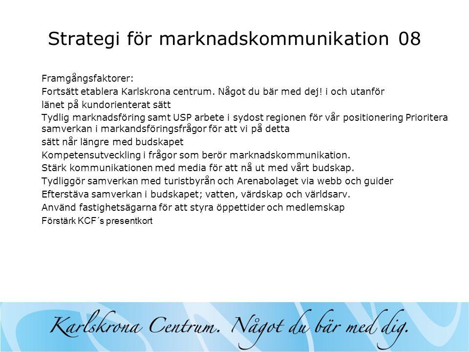 Strategi för marknadskommunikation 08