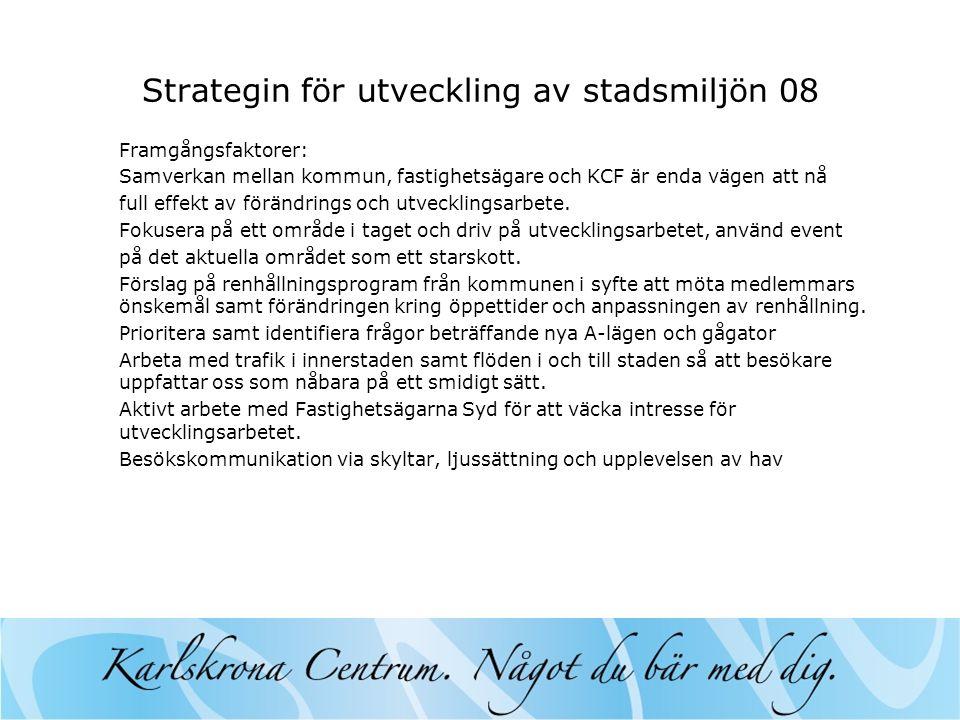Strategin för utveckling av stadsmiljön 08
