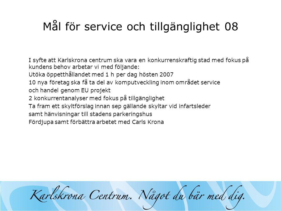 Mål för service och tillgänglighet 08