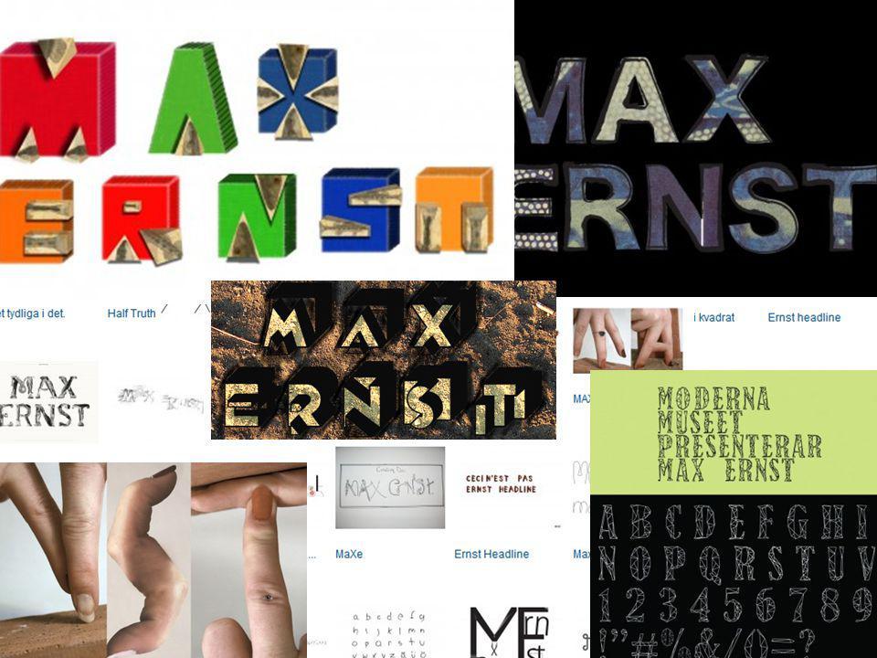 Moderna Museet Reslutatet: 111 varianter 37 typsnitt