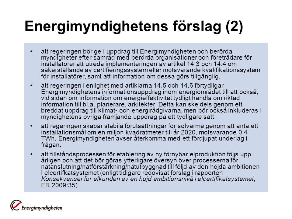 Energimyndighetens förslag (2)