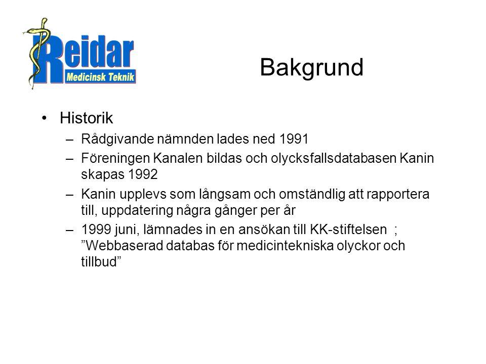 Bakgrund Historik Rådgivande nämnden lades ned 1991