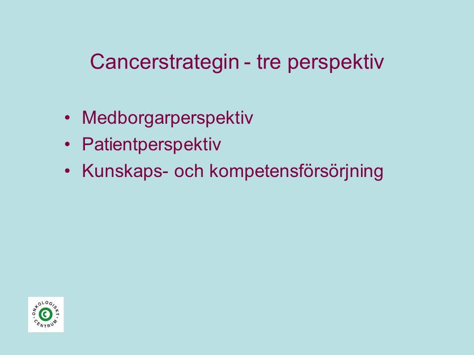 Cancerstrategin - tre perspektiv