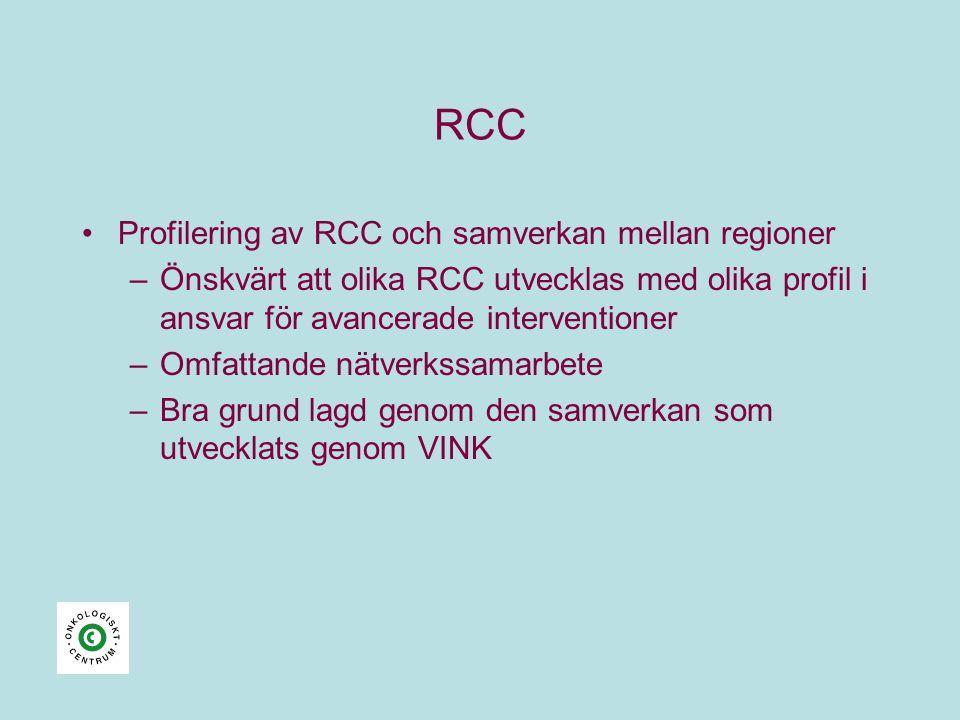 RCC Profilering av RCC och samverkan mellan regioner
