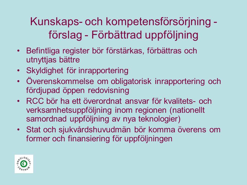 Kunskaps- och kompetensförsörjning - förslag - Förbättrad uppföljning