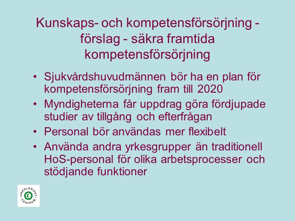 Kunskaps- och kompetensförsörjning - förslag - säkra framtida kompetensförsörjning