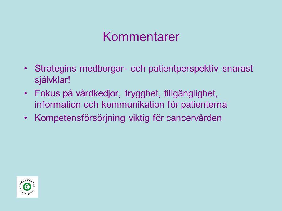 Kommentarer Strategins medborgar- och patientperspektiv snarast självklar!