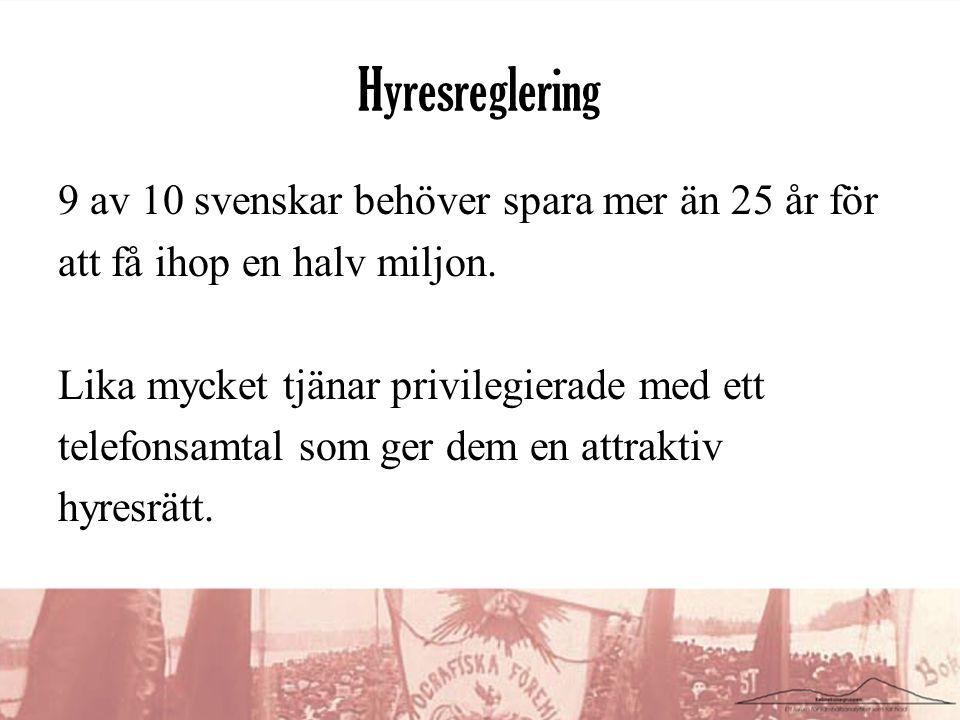 Hyresreglering 9 av 10 svenskar behöver spara mer än 25 år för