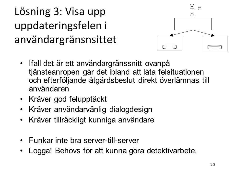 Lösning 3: Visa upp uppdateringsfelen i användargränsnsittet