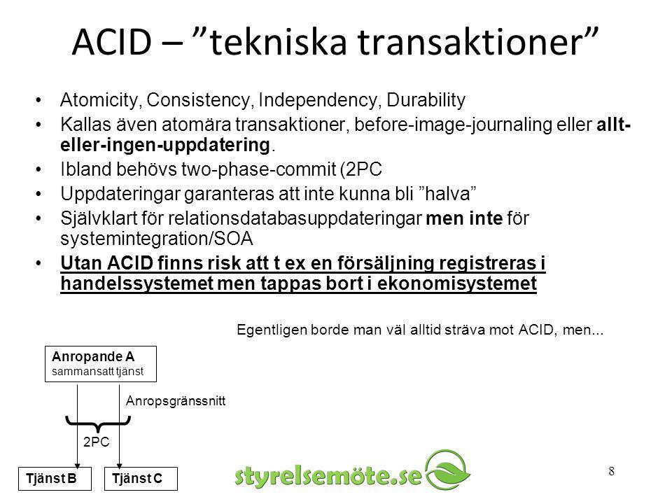 ACID – tekniska transaktioner