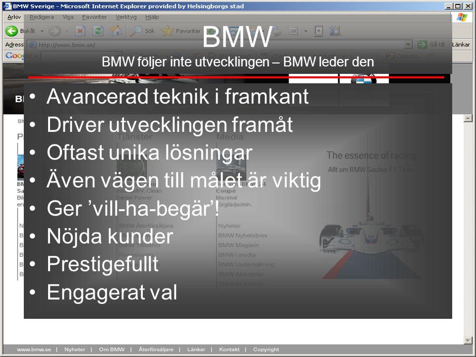 BMW BMW följer inte utvecklingen – BMW leder den
