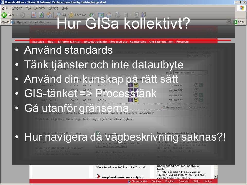 Hur GISa kollektivt Använd standards