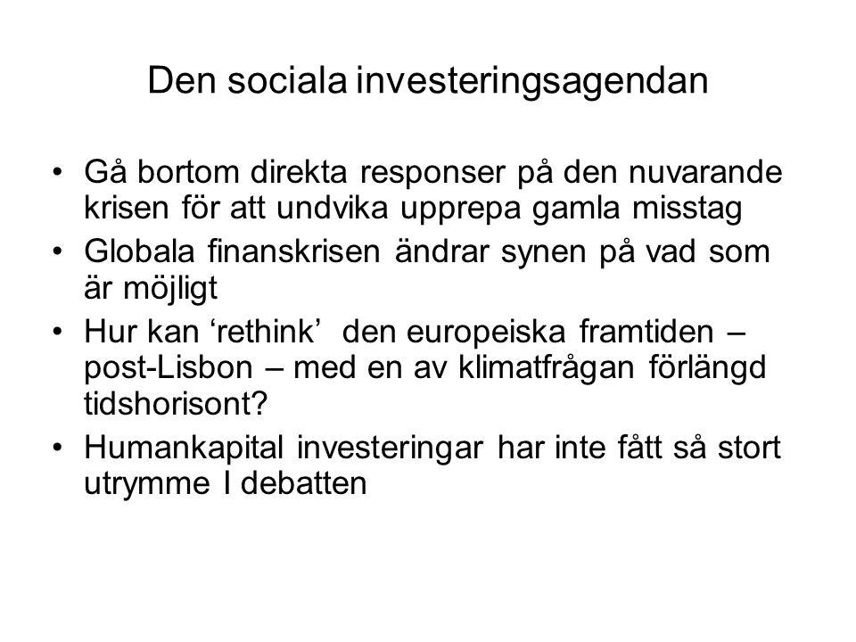 Den sociala investeringsagendan