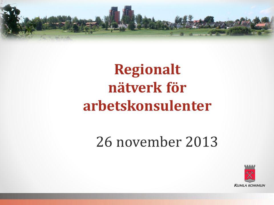 Regionalt nätverk för arbetskonsulenter