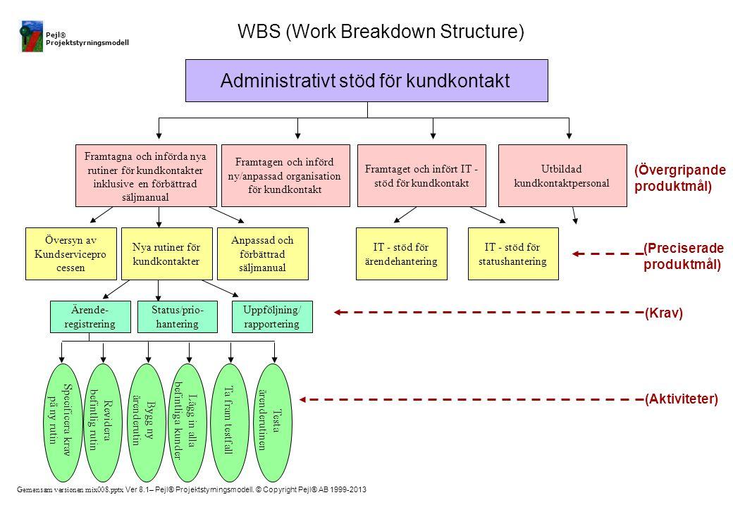 WBS (Work Breakdown Structure)