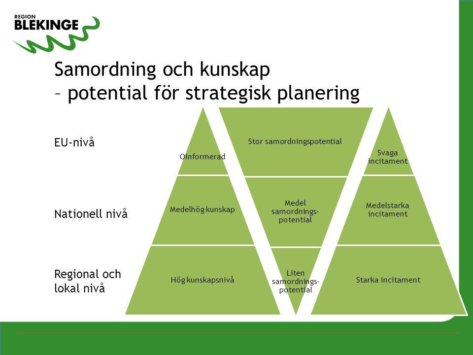 Samordning och kunskap – potential för strategisk planering