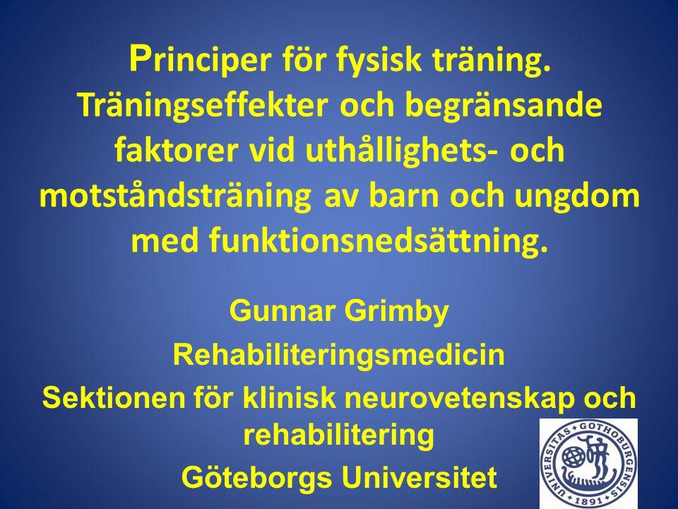 Principer för fysisk träning
