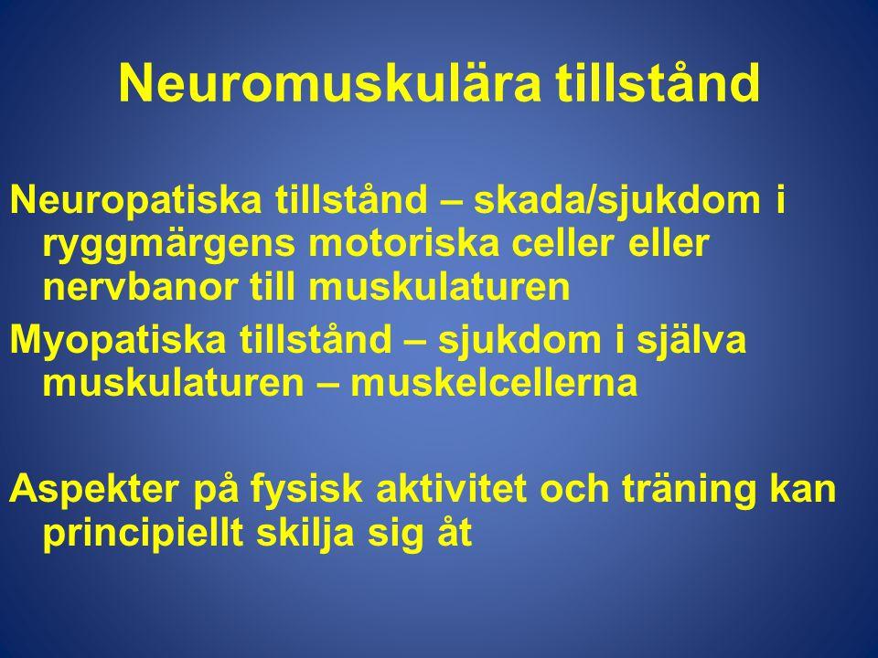 Neuromuskulära tillstånd