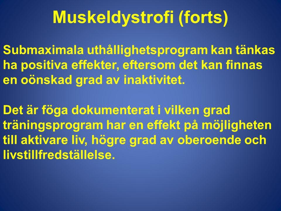 Muskeldystrofi (forts)