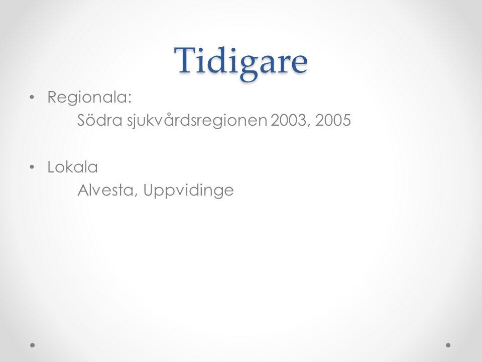 Tidigare Regionala: Södra sjukvårdsregionen 2003, 2005 Lokala