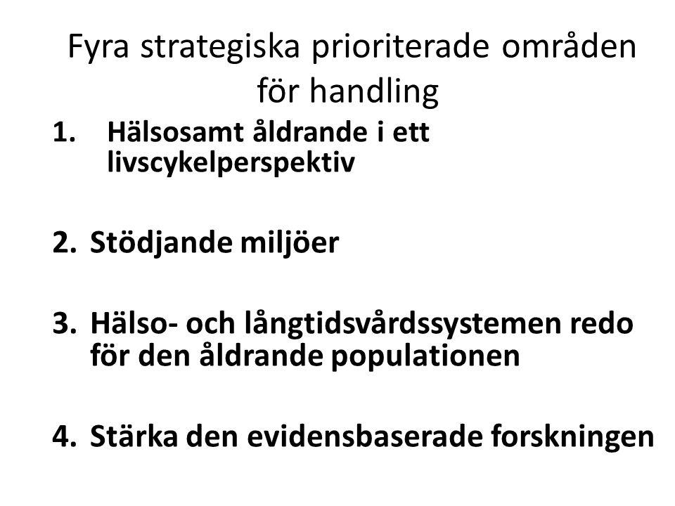 Fyra strategiska prioriterade områden för handling