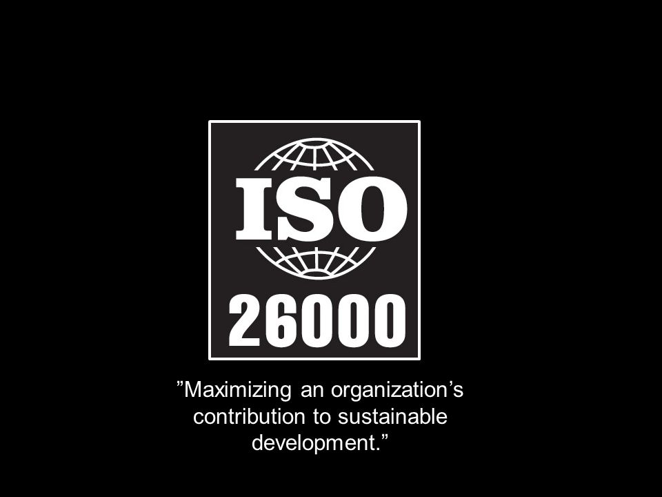 Maximizing an organization's contribution to sustainable development